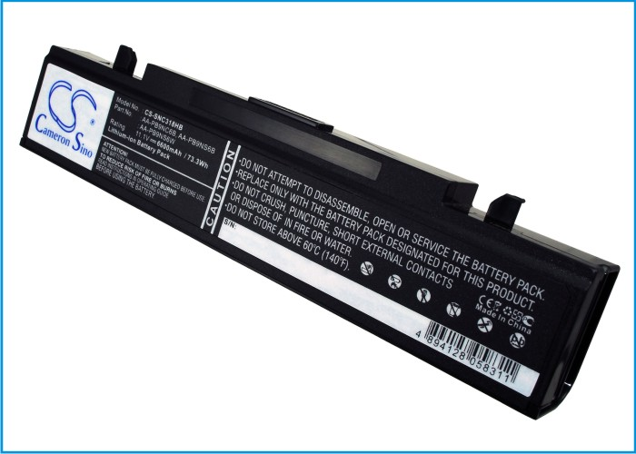 Cameron Sino baterie do notebooků pro SAMSUNG NP-R540-JS08AU 11.1V Li-ion 6600mAh černá - neoriginální