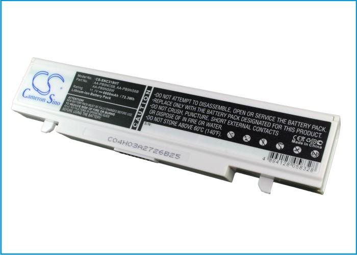Cameron Sino baterie do notebooků pro SAMSUNG NP-R510 FA07 11.1V Li-ion 6600mAh bílá - neoriginální