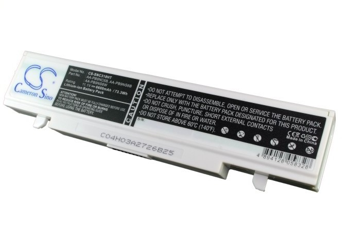 Cameron Sino baterie do notebooků pro SAMSUNG NP-R610-Aura T3400 Dienh 11.1V Li-ion 6600mAh bílá - neoriginální