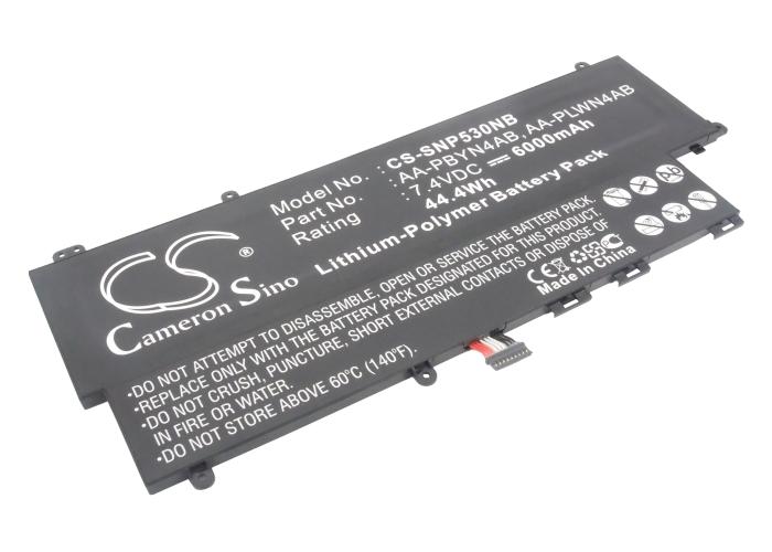 Cameron Sino baterie do notebooků pro SAMSUNG NP-530U3B-A02 7.4V Li-Polymer 6000mAh černá - neoriginální
