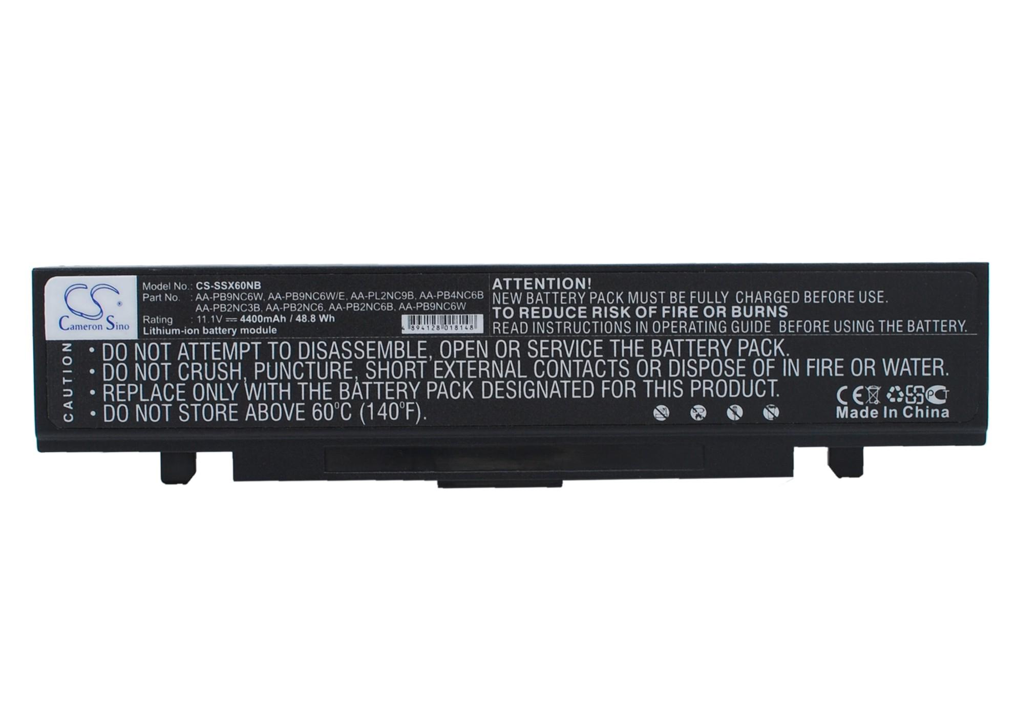 Cameron Sino baterie do notebooků pro SAMSUNG NP-R70 11.1V Li-ion 4400mAh černá - neoriginální