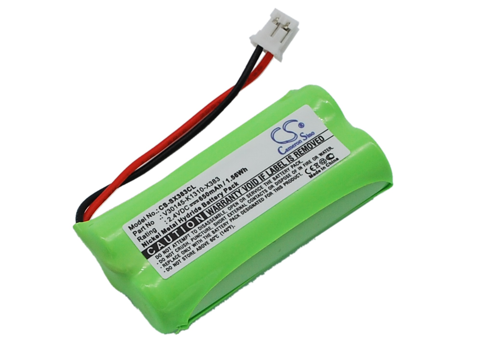 Cameron Sino baterie do bezdrátových telefonů pro SIEMENS Gigaset A140 weib 2.4V Ni-MH 650mAh černá - neoriginální