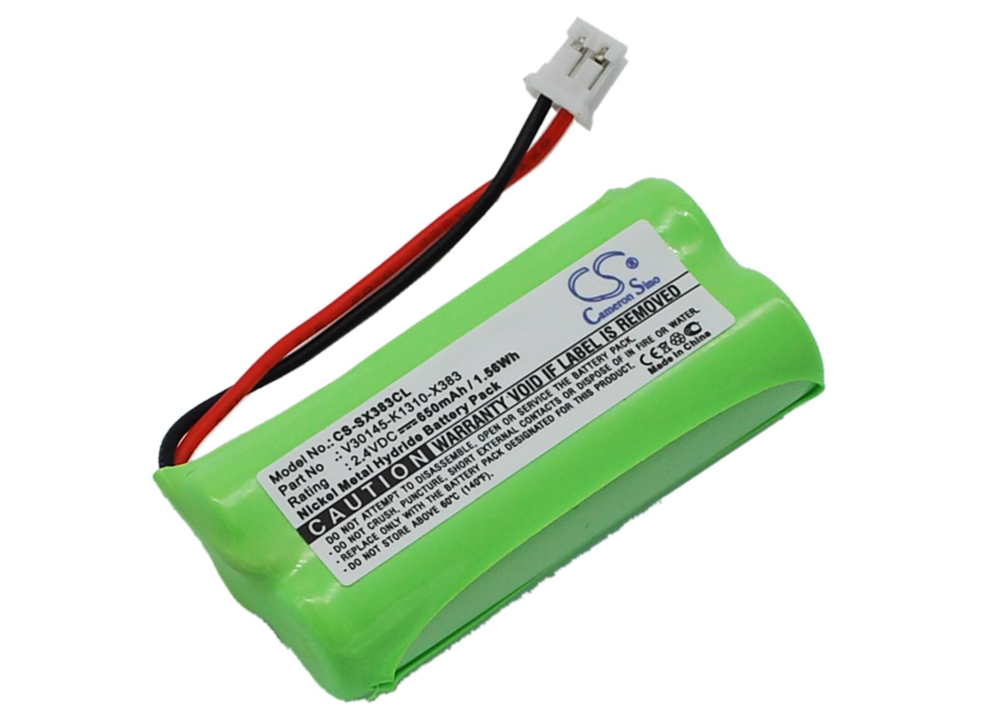 Cameron Sino baterie do bezdrátových telefonů za V30145-K1310-X383 2.4V Ni-MH 650mAh černá - neoriginální