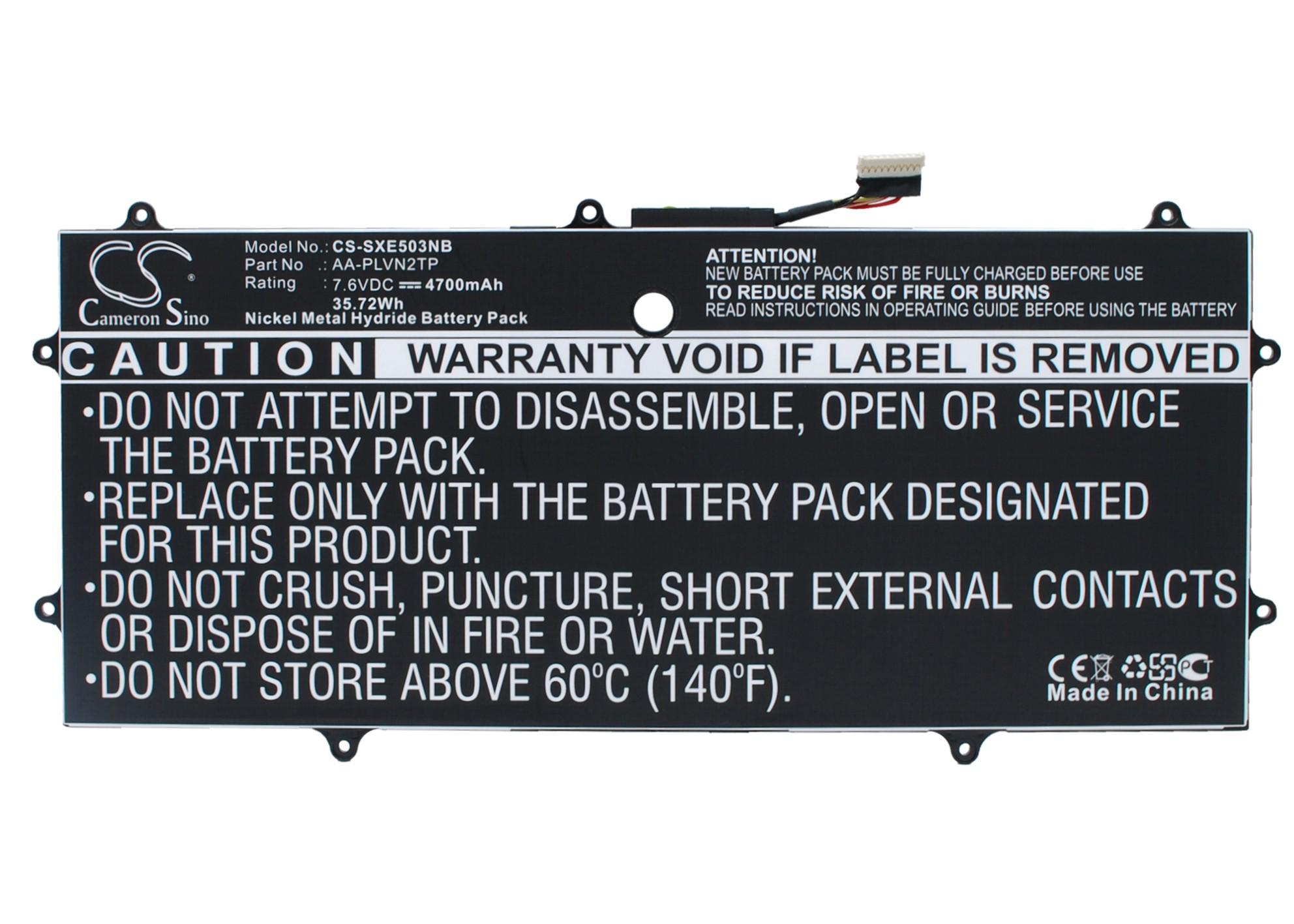 """Cameron Sino baterie do notebooků pro SAMSUNG Chromebook 2 13.3"""" 7.6V Li-Polymer 4700mAh černá - neoriginální"""