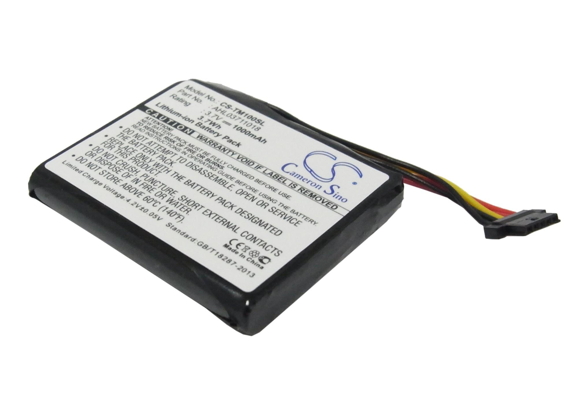 Cameron Sino baterie do navigací (gps) pro TOMTOM Go Live 1000 Regional 3.7V Li-ion 1000mAh černá - neoriginální