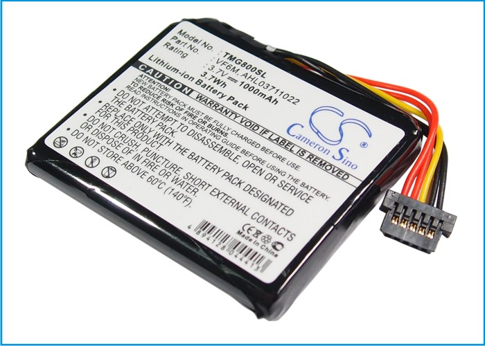 Cameron Sino baterie do navigací (gps) pro TOMTOM Go Live 825 3.7V Li-ion 1000mAh černá - neoriginální