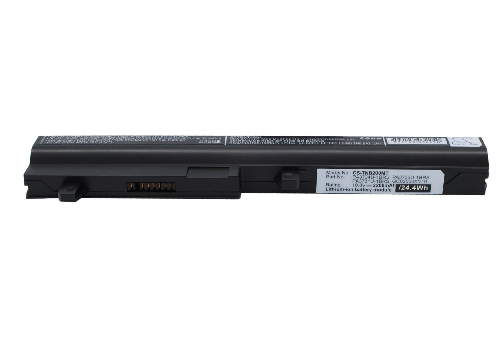 Cameron Sino baterie do netbooků pro TOSHIBA Satellite NB200-11L 10.8V Li-ion 2200mAh černá - neoriginální
