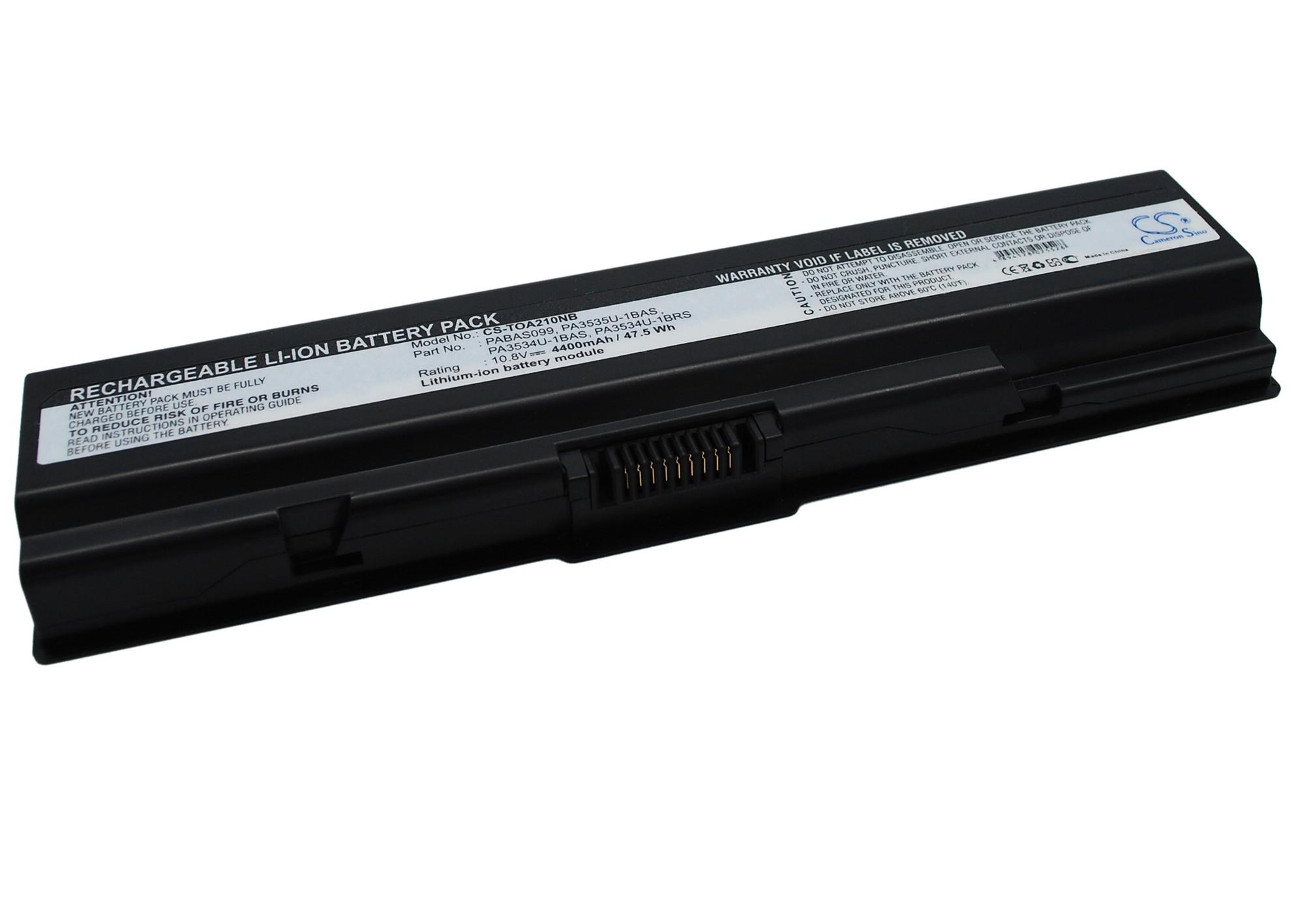 Cameron Sino baterie do notebooků pro TOSHIBA Satellite L505-10J 10.8V Li-ion 4400mAh černá - neoriginální