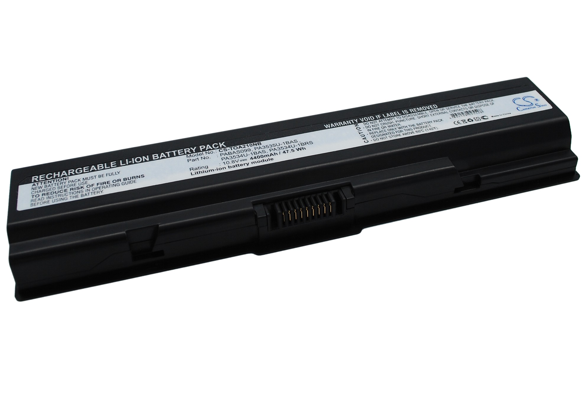 Cameron Sino baterie do notebooků pro TOSHIBA Satellite L505-GS5038 10.8V Li-ion 4400mAh černá - neoriginální