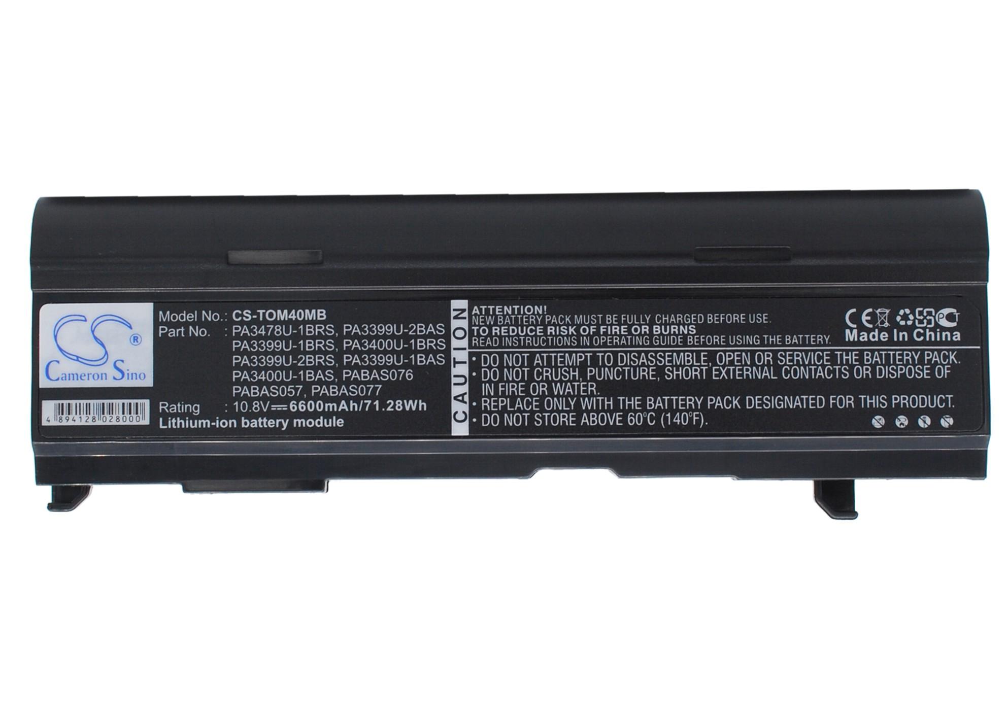 Cameron Sino baterie do notebooků za PA3399U-2BRS 10.8V Li-ion 6600mAh černá - neoriginální