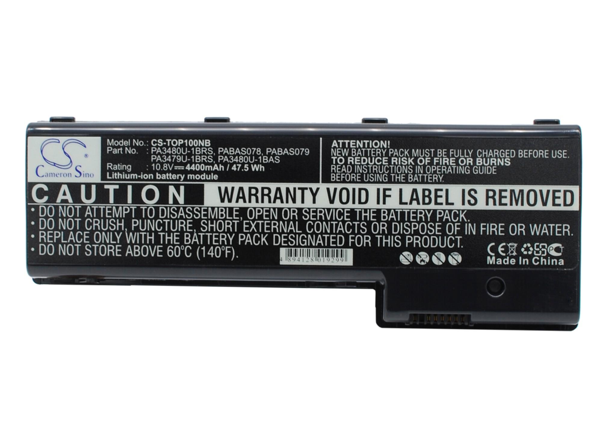 Cameron Sino baterie do notebooků pro TOSHIBA Satellite P100-324 10.8V Li-ion 4400mAh černá - neoriginální