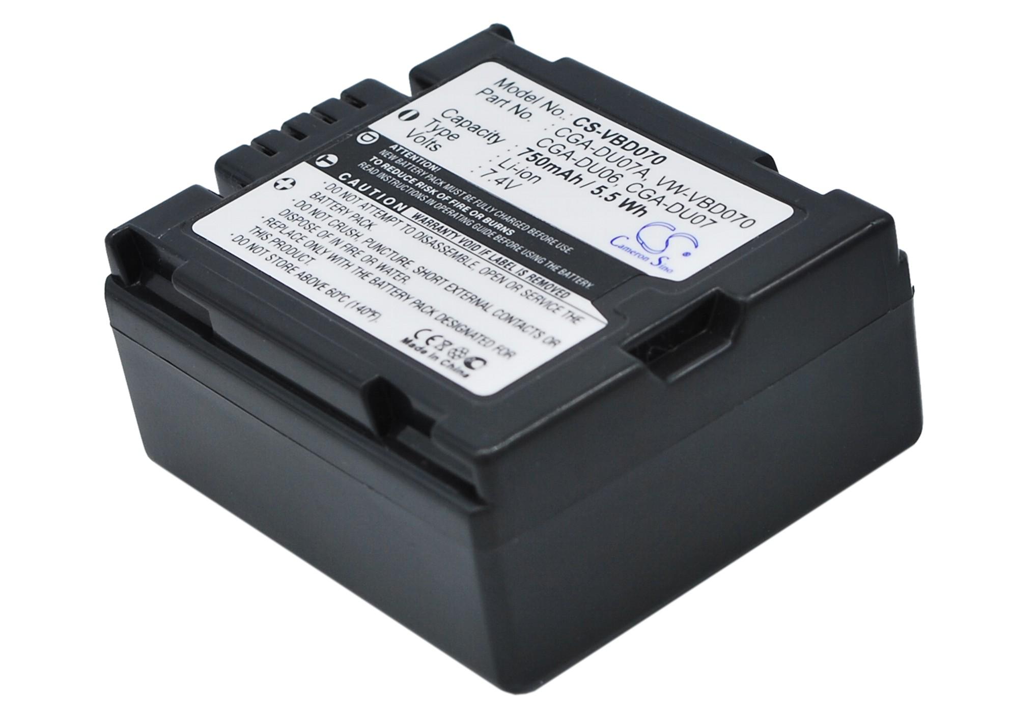 Cameron Sino baterie do kamer a fotoaparátů pro PANASONIC VDR-D250EB-S 7.4V Li-ion 750mAh tmavě šedá - neoriginální