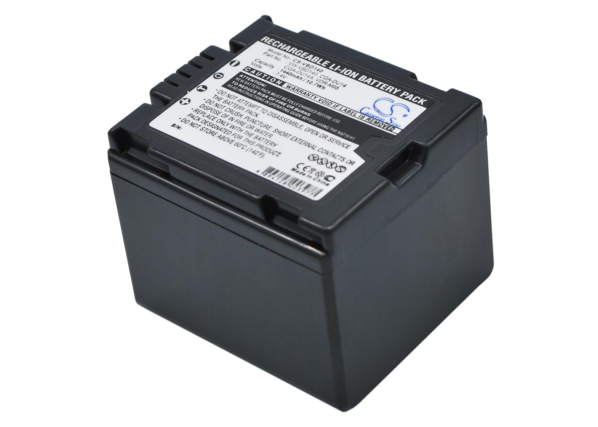 Cameron Sino baterie do kamer a fotoaparátů pro PANASONIC VDR-D250EB-S 7.4V Li-ion 1440mAh tmavě šedá - neoriginální