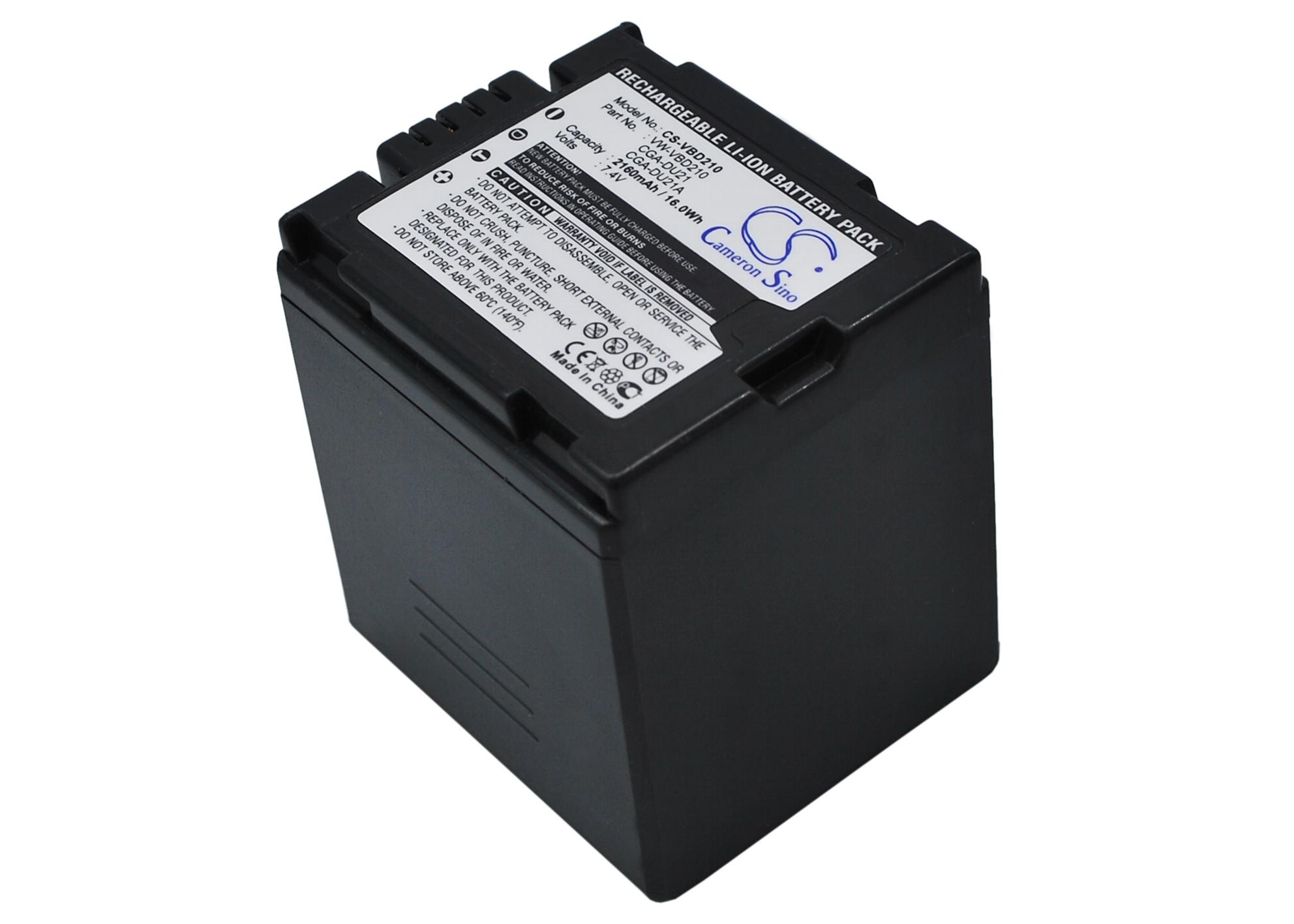 Cameron Sino baterie do kamer a fotoaparátů pro PANASONIC VDR-D250EB-S 7.4V Li-ion 2160mAh tmavě šedá - neoriginální