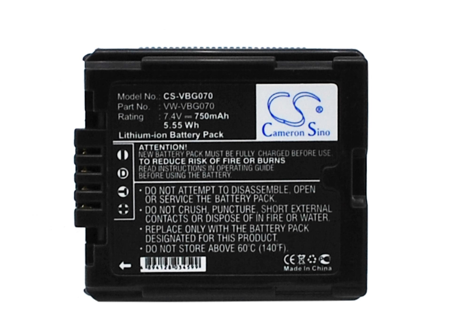 Cameron Sino baterie do kamer a fotoaparátů pro PANASONIC SDR-H50 7.4V Li-ion 750mAh černá - neoriginální