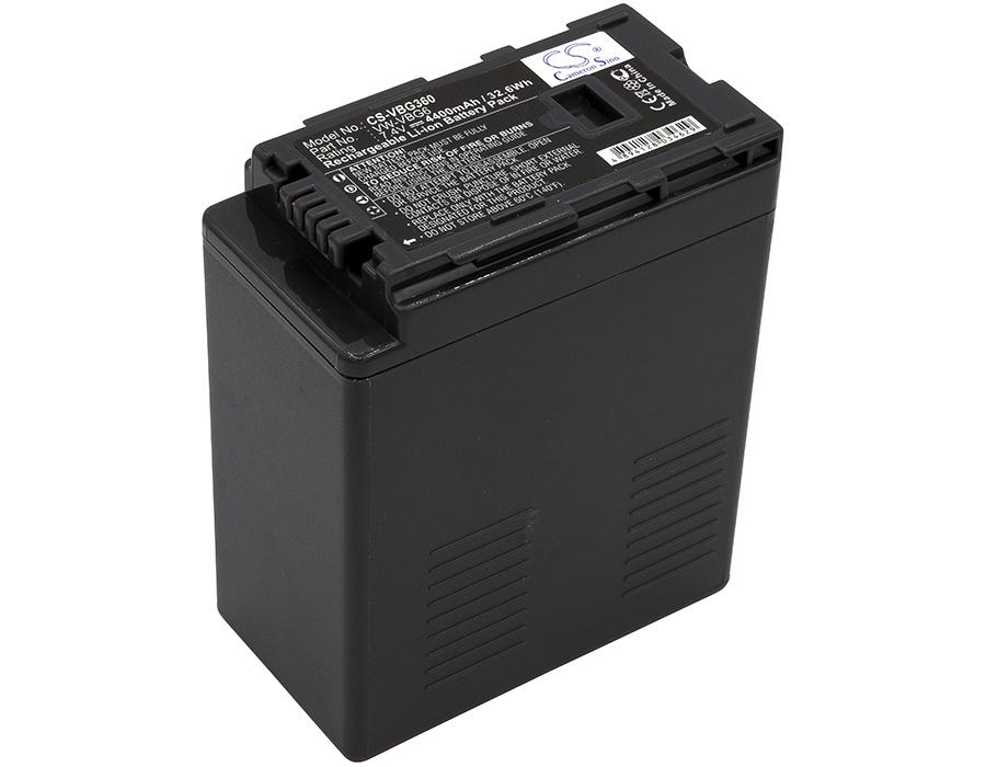 Cameron Sino baterie do kamer a fotoaparátů pro PANASONIC HDC-SD5EG-S 7.4V Li-ion 4400mAh černá - neoriginální