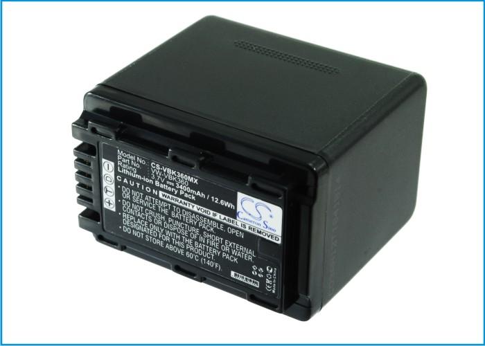 Cameron Sino baterie do kamer a fotoaparátů pro PANASONIC HDC-TM60 3.7V Li-ion 3400mAh černá - neoriginální
