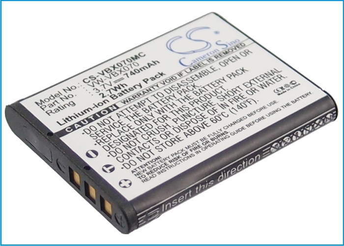 Cameron Sino baterie do kamer a fotoaparátů pro PANASONIC HX-DC2GK 3.7V Li-ion 740mAh černá - neoriginální