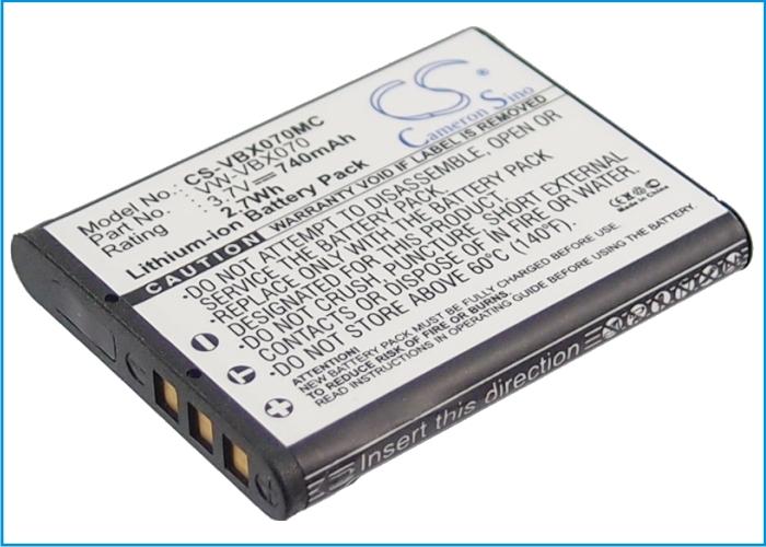 Cameron Sino baterie do kamer a fotoaparátů pro PANASONIC HX-WA10EG-K 3.7V Li-ion 740mAh černá - neoriginální