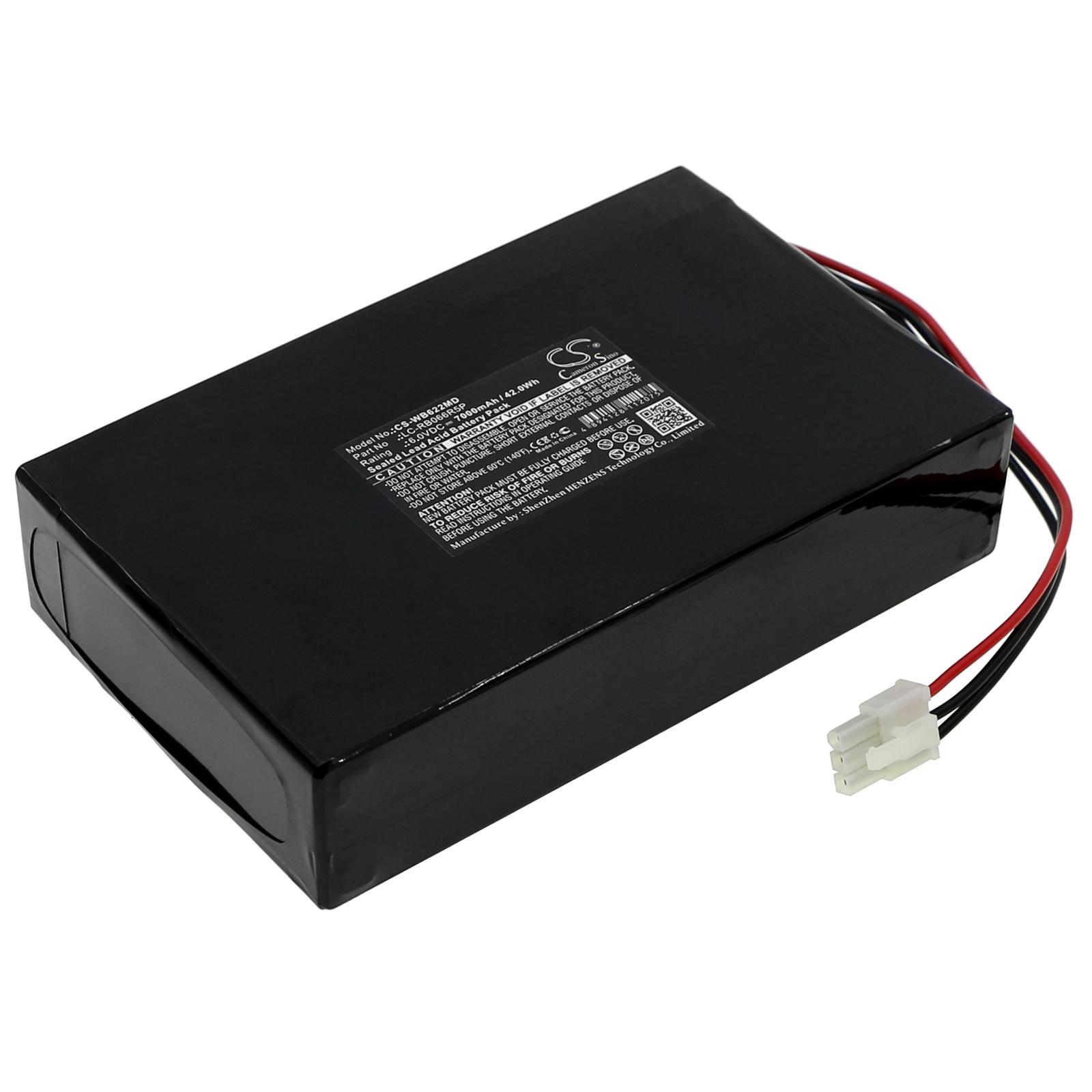 Cameron Sino baterie do zdravotnických zařízení za LC-RB066R5P 6V Sealed Lead Acid 7000mAh černá - neoriginální