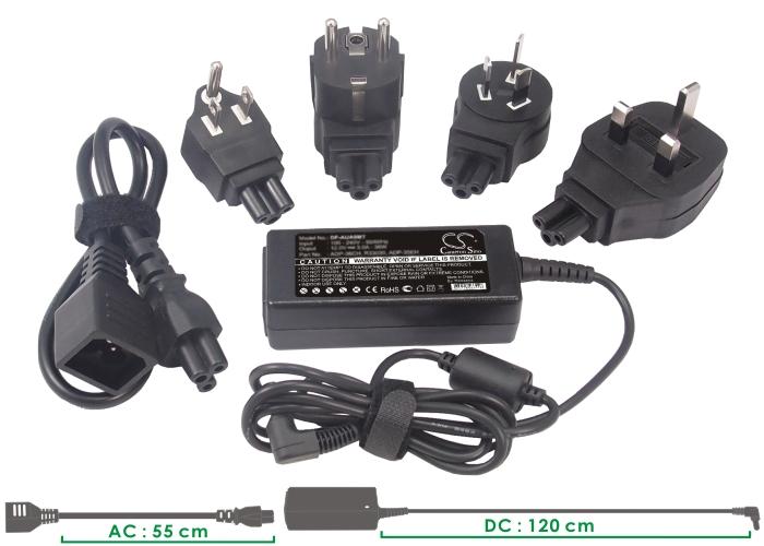 Cameron Sino adaptéry pro notebooky pro ASUS Eee PC 1005HA-PU1X-BU černá - neoriginální