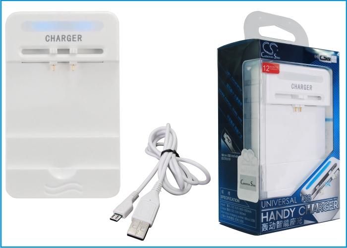 Cameron Sino stolní usb nabíječky pro AIPTEK PocketDV AHD-300 bílá - neoriginální