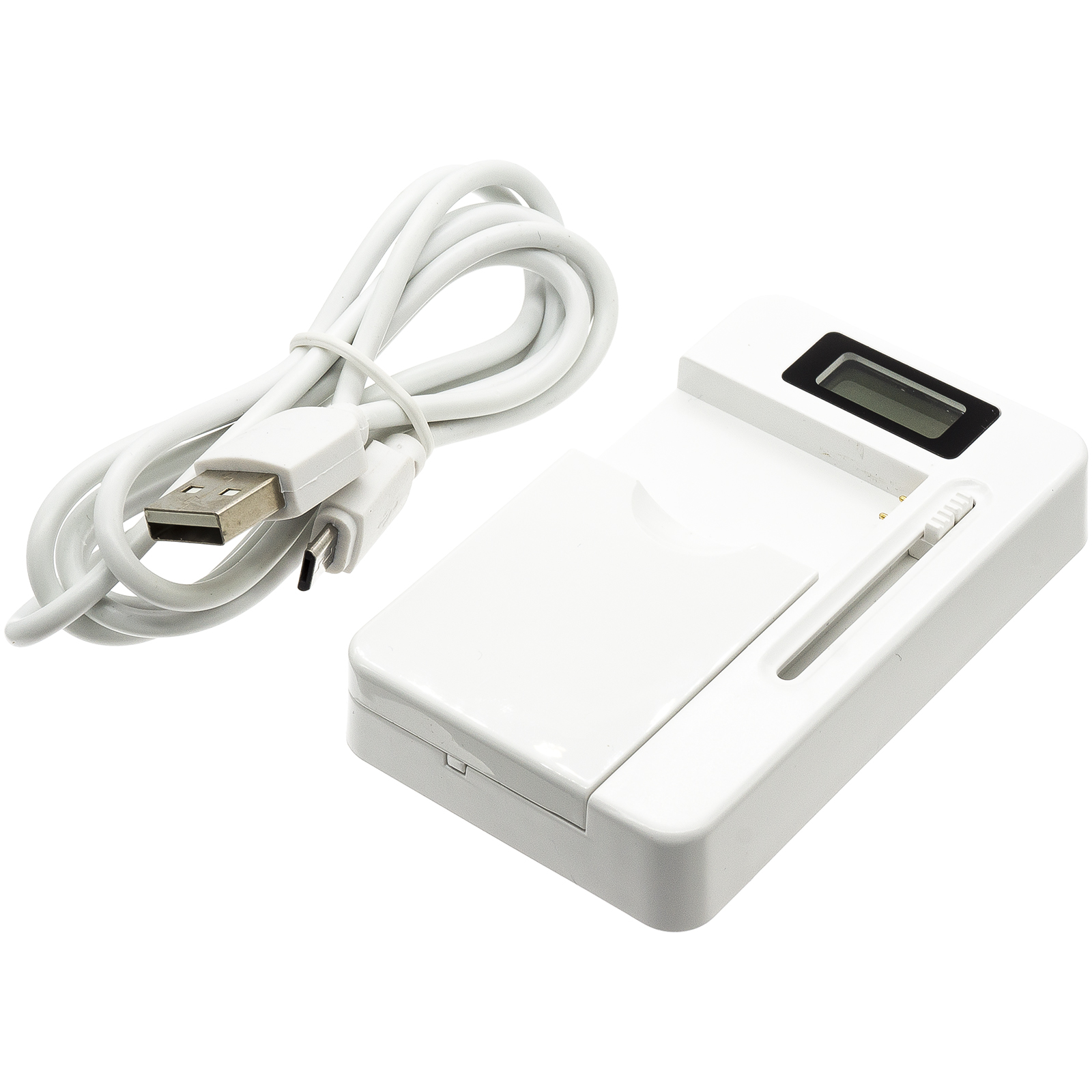 Cameron Sino stolní usb nabíječky pro CANON Digital IXUS 950 IS bílá - neoriginální